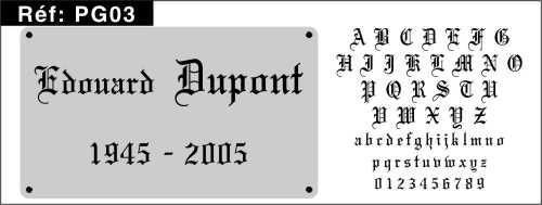 Pochoir funeraire les polices et critures pour pochoirs gothique thecheapjerseys Choice Image
